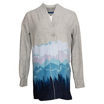 Cuddl Duds Women's Sweater Stretch Button-Front Cardigan Blue A381788