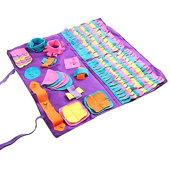 Pet dog sniffing mat find food training pad foraging skill blanket puzzle toy cai1396