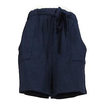 AnyBody Kvinders Shorts franske Terry Tie Waist Blå A354750