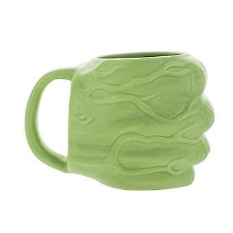 Green Fist Ceramic Mug Cartoon Cup