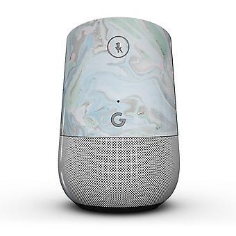 Redemoinho de mármore V2 azul - Kit de pele de corpo inteiro para o Google Home