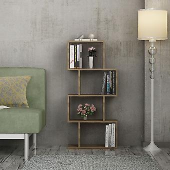 Libreria Helen, Colore Noce in Truciolare Melaminico, L116,4xP53,5xA22 cm