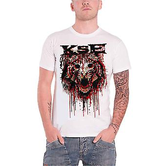 Killswitch Engage Mens T Shirt White Fury band logo Official