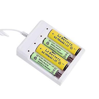 Chargeur universel de batterie de sortie usb - adaptateur de fente 4 pour Aa / Aaa