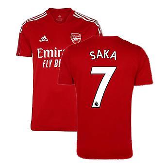 Arsenal 2021-2022 Treningsskjorte (Aktiv Maroon) - Barn (SAKA 7)