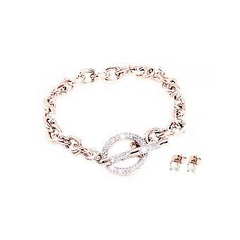 Jora Jewelry Set incrustado con cristales de Swarovski - Plata