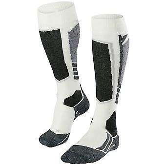 Falke Ski 2 mittlere Cashmere Kniestrümpfe Socken - Wollweiß