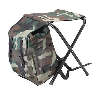 Folding Camping Chair / Stool Backpack With Cooler Insulated Picnic Bag