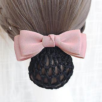 Frauen Haarspangen Haar Bowknot Net Bun Snood Arbeit Kopfbedeckungen