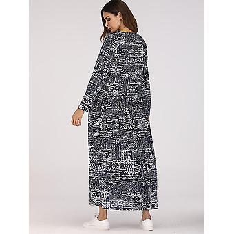Blatt Druck ausgeschnitten Kleid