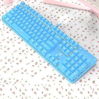 Qwert メカニカル キーボード 青軸キーボード 青 2