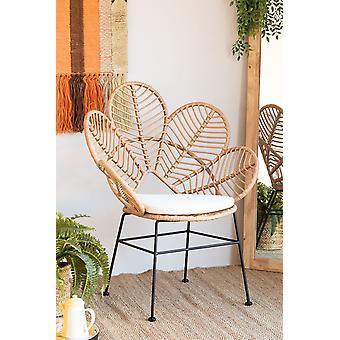 SKLUM Rinum synthetische rieten fauteuil Synthetische vezels Natuurlijk
