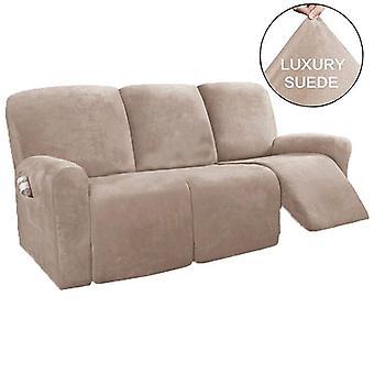 3 مقعد كرسي أريكة كرسي تغطية كرسي شاملة للجميع غير زلة الاسترخاء غطاء كرسي كرسي جلد الغزال مرونة حامي كرسي الأريكة