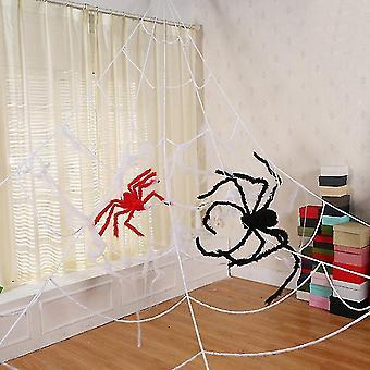 Holiday ornament displays stands homemiyn halloween decoration stretch spider webs indoor outdoor spooky spider webbing for
