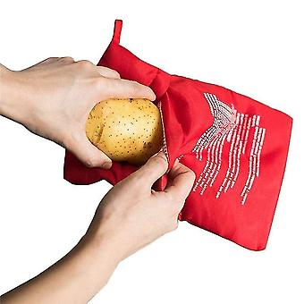 Baking cookie sheets 6pcs/lot red reusable microwave potato bag baking cooker bag rice pocket 4 minutes oven easy quick