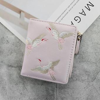 Schöne Vögel Bedruckte Mini Frauen Brieftasche Pu Leder Mode Reißverschluss Münze Geldbörse Frau Clutch Geldbörsen Kartenhalter Damen Münztasche