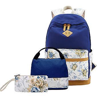 Avslappnad ryggsäck med handväska och handväska för kvinnor