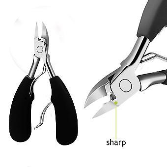 Cortadores de uñas de mano antideslizantes originales de agarre suave, grado quirúrgico pesado