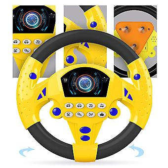 Children's Music Development Educational Toy With Light Simulation Steering Wheel