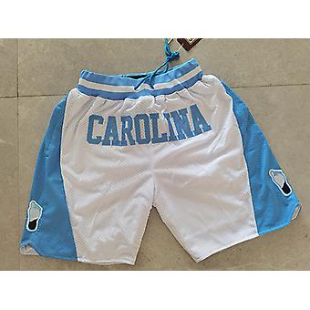 Just Don New Style North Carolina High School Team Baseketball Shorts High Qulity Embroidered Mens Basketball Jersey Sports