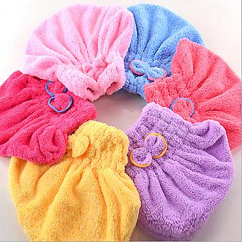 Textile Microfiber Hair Turban Quickly Dry Hair Hat Wrapped Bath Towel
