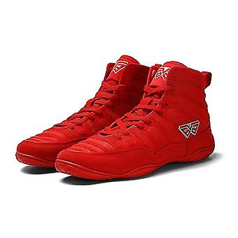 Men Professional Boxing Wrestling Shoes Lace-up Training Fighting Boots
