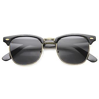 Horn unisexe Rimmed lunettes de soleil UV400 protégée lentille Composite