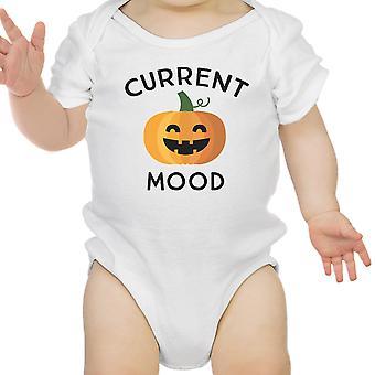 Pumpkin Current Mood White Bodysuit Halloween Costume First Halloween