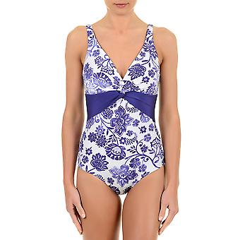 David Paisley Purple and White Swimsuit  6502-DH