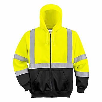 Portwest - vêtements de sécurité Hi-Vis bicolore zippée à capuche zippé Top