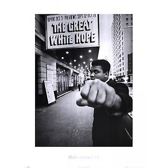 Muhammad Ali - Great White Hope affiche Poster Print