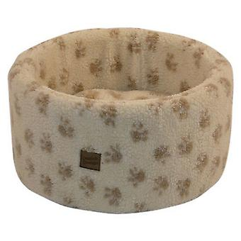Danish Design Pet Products Paw Print Cat Cosy Bed