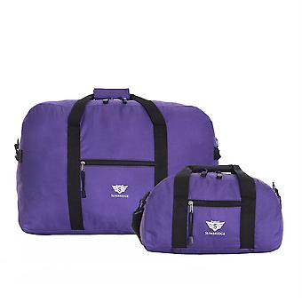 Slimbridge Ryanair Set de 2 bolsas de cabina, púrpura 55 x 40 x 20 cm y 35 x 20 x 20 cm