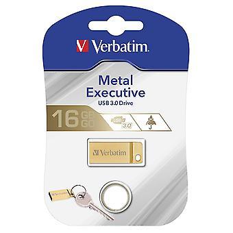 Dosłownie 99104 16GB USB 3.0 złota Metal USB błysk przejażdżka