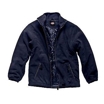 Dickies Mens werkkleding gewatteerde Fleece jas marineblauw JW81700N
