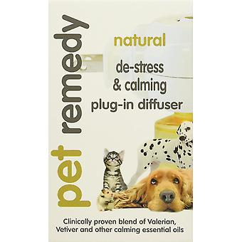 Remède naturel chien chat animal déstresser d'animal familier et calmant diffuseur plug-in, 40 ml