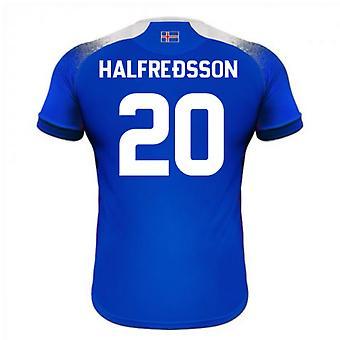 2018-2019 Islanti koti Errea jalkapallopaita (Halfredsson 20)