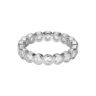 ESPRIT women's ring silver zirconia embrace ESRG92348A1