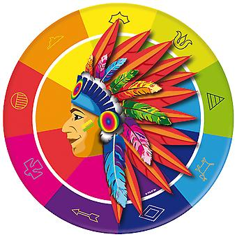 Party plate plate plate Indian cowboy party birthday 23 cm diameter 8 pieces