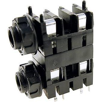 Acantilado FCR1120 6.35 mm conector de audio toma, número de montaje horizontal de pins: 2 Mono negro 1 PC