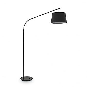 Ideal Lux Daddy Tall Overhanging Black Floor Lamp With Shade
