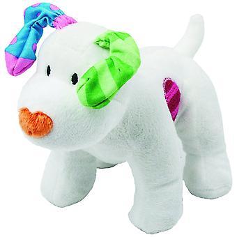 Le bonhomme de neige et le jouet Snowdog Bean, par Rainbow Designs
