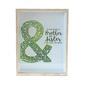 "Wonderful Deco decoratie venster ""Brother & Sister"""