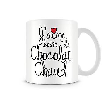 J'amie Boire Du Chocolat Chaud Tasse