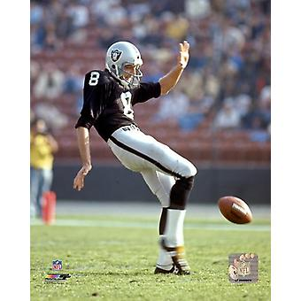 Ray Guy Action Photo Print
