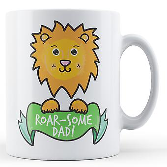 Roar-algunos papá! León - taza impresa