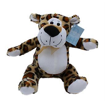 "9"" Plush Jungle Animal, Leopard"