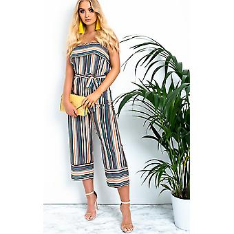 IKRUSH Womens Madison Striped Wide Leg Jumpsuit