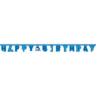 Haifisch Hai Party Girlande Happy Birthday 220 cm Shark Haiparty Kindergeburtstag Deko