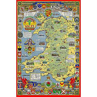 Historical Map Of Wales & Monmouth 1000 Piece Jigsaw Puzzle (jg)